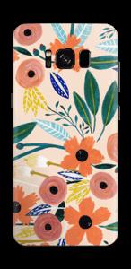 Kesän kukkasia tarrakuori Galaxy S8