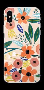 Kesän kukkasia tarrakuori IPhone XS