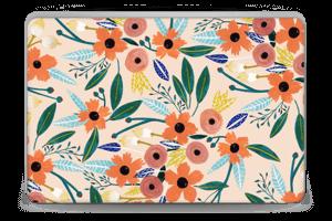 Kesän kukkasia tarrakuori Laptop 15.6