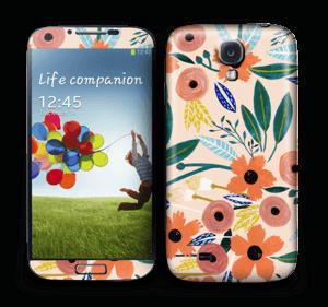 Kesän kukkasia tarrakuori Galaxy S4