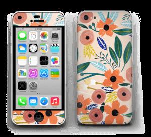 Kesän kukkasia tarrakuori IPhone 5c