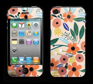 Kesän kukkasia tarrakuori IPhone 4/4s