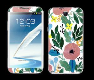 Kukkaunelma tarrakuori Galaxy Note 2