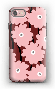 Lyserøde blomster cover IPhone 7 tough
