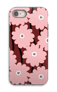 Lyserøde blomster cover IPhone 8 tough