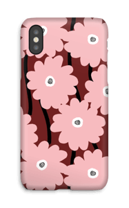 Rosa blom skal IPhone X