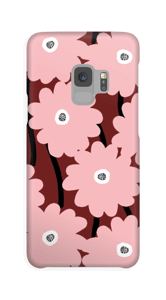 Lyserøde blomster cover Galaxy S9
