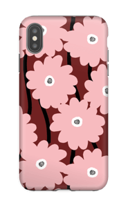 Rosa blom skal IPhone XS Max tough