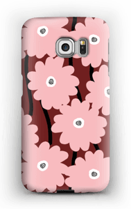 Lyserøde blomster cover Galaxy S6 Edge