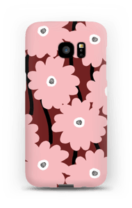 Lyserøde blomster cover Galaxy S7 Edge