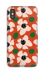Trendy blomster cover IPhone X
