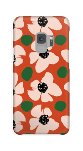 Trendy blomster cover Galaxy S9
