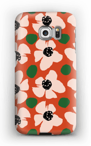 Trendy blomster cover Galaxy S6 Edge