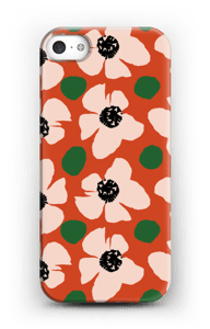 Trendy blomster cover IPhone SE
