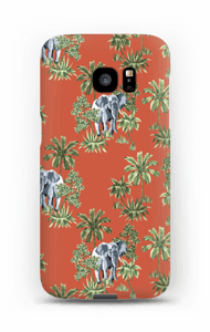 Eléphants & sable rouge Coque  Galaxy S7 Edge