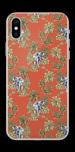 Eléphants & désert rouge Skin IPhone X