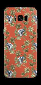 Eléphants & désert rouge Skin Galaxy S8 Plus
