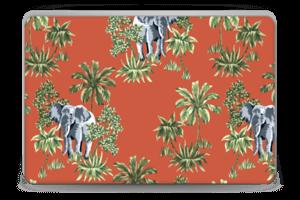 Elefant på rött Skin Laptop 15.6