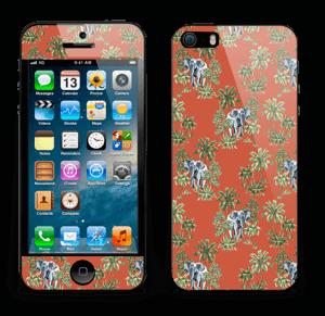 Eléphants & désert rouge Skin IPhone 5s