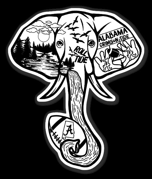 Elefante pegatina