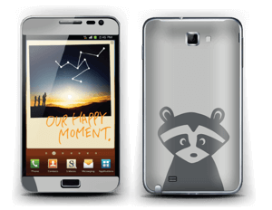 Raccoon Friend  Skin Galaxy Note