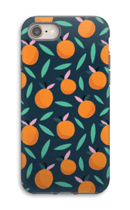 Orange case IPhone 8 tough
