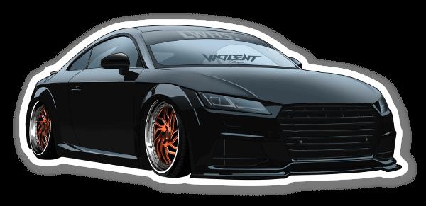 Nick Audi TT  sticker