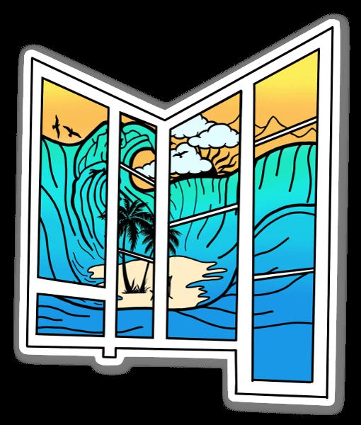 Fenster Wellen sticker