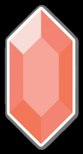 Rubin Rot sticker