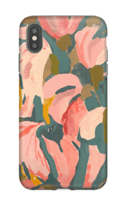 Pink Flower case IPhone XS Max tough