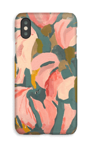 Pink Flower case IPhone XS