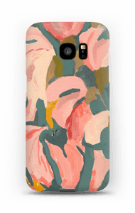 Pink Flower case Galaxy S7 Edge