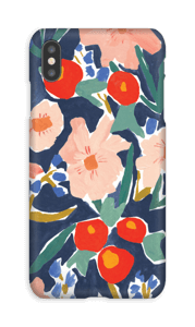 Akvarelblomster cover IPhone XS Max