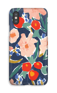Akvarelblomster cover IPhone XS