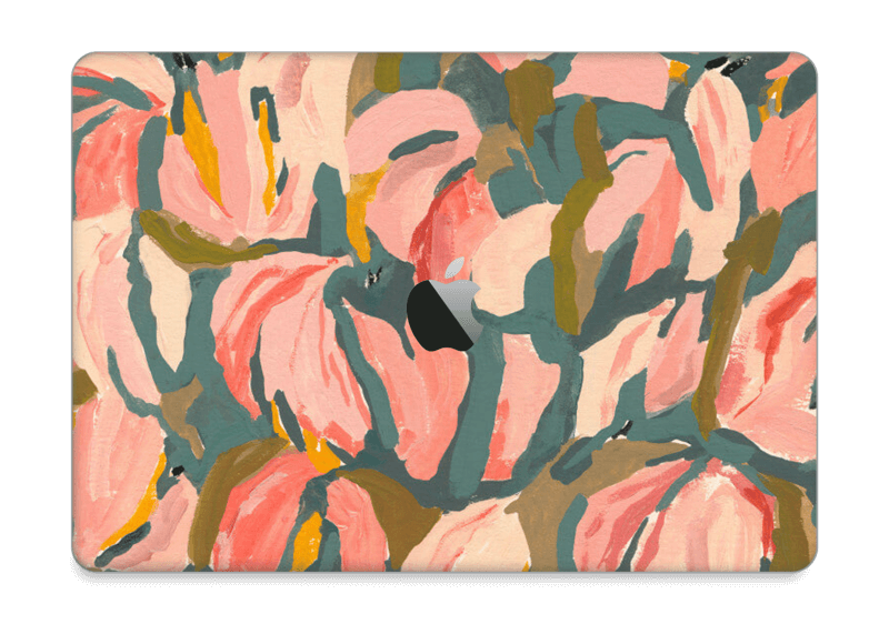 "Peinture fleurs roses Skin MacBook Pro 13"" 2016-"