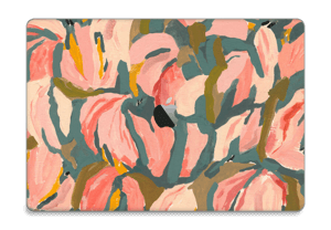 "Peinture fleurs roses Skin MacBook Pro 15"" 2016-"
