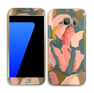 Light Pink Flower Skin Galaxy S7