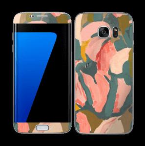 Pink Flower  Skin Galaxy S7 Edge