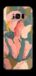 Peinture fleurs roses Skin Galaxy S8 Plus