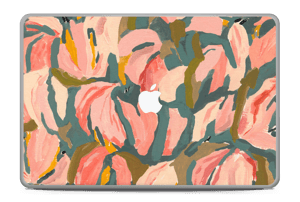 "Light Pink Flower Skin MacBook Pro 17"" -2015"