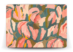 "Peinture fleurs roses Skin MacBook 12"""