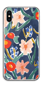 Peinture fleurie Skin IPhone X