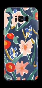 Peinture fleurie Skin Galaxy S8 Plus