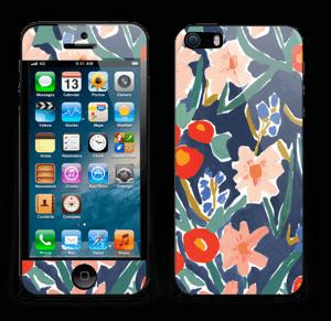 Peinture fleurie Skin IPhone 5s