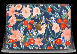 """Peinture fleurie Skin MacBook 12"""""""