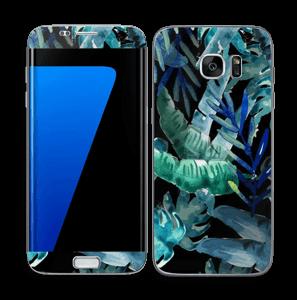 Tropical black Skin Galaxy S7 Edge