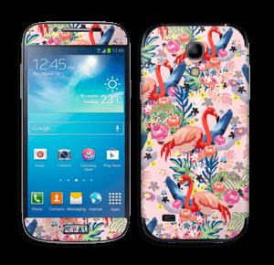 Flamingo Tropics Skin Galaxy S4 Mini