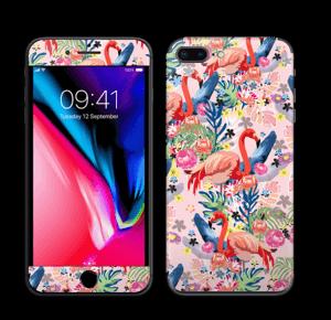 Flamingo Tropics Skin IPhone 8 Plus
