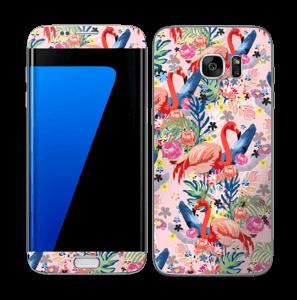 Flamingo Tropics Skin Galaxy S7 Edge