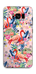 Flamingo Tropics Skin Galaxy S8